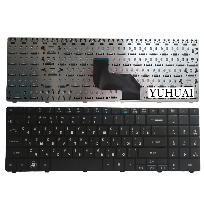 Russian Keyboard for Medion E6217 DNS peagtron H36 0KN0-W01RU121 MP-08G63SU-5287 RU laptop keyboard black stylish plus size keyhole neckline slit dress for women