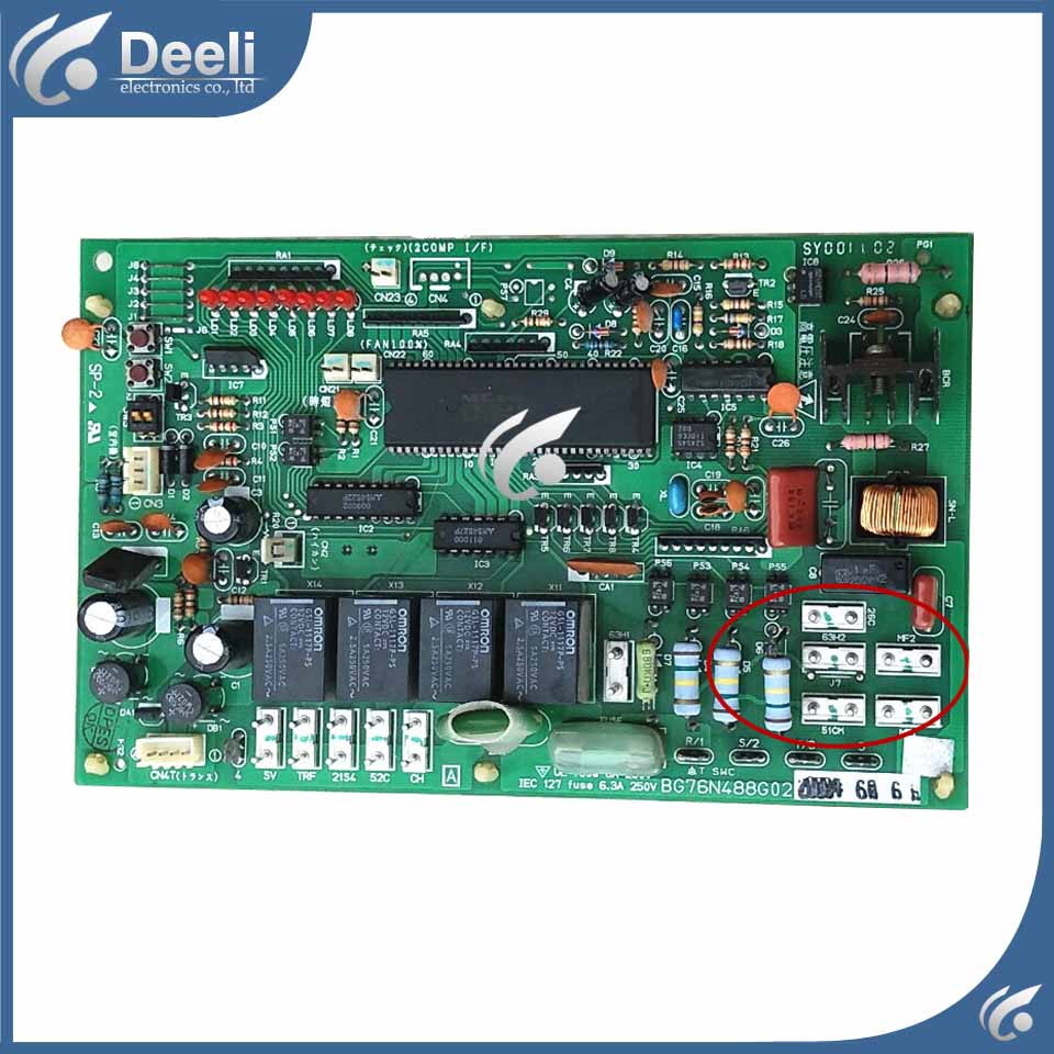 95% new good working for air conditioning computer board 3P/5P BG76N488G02