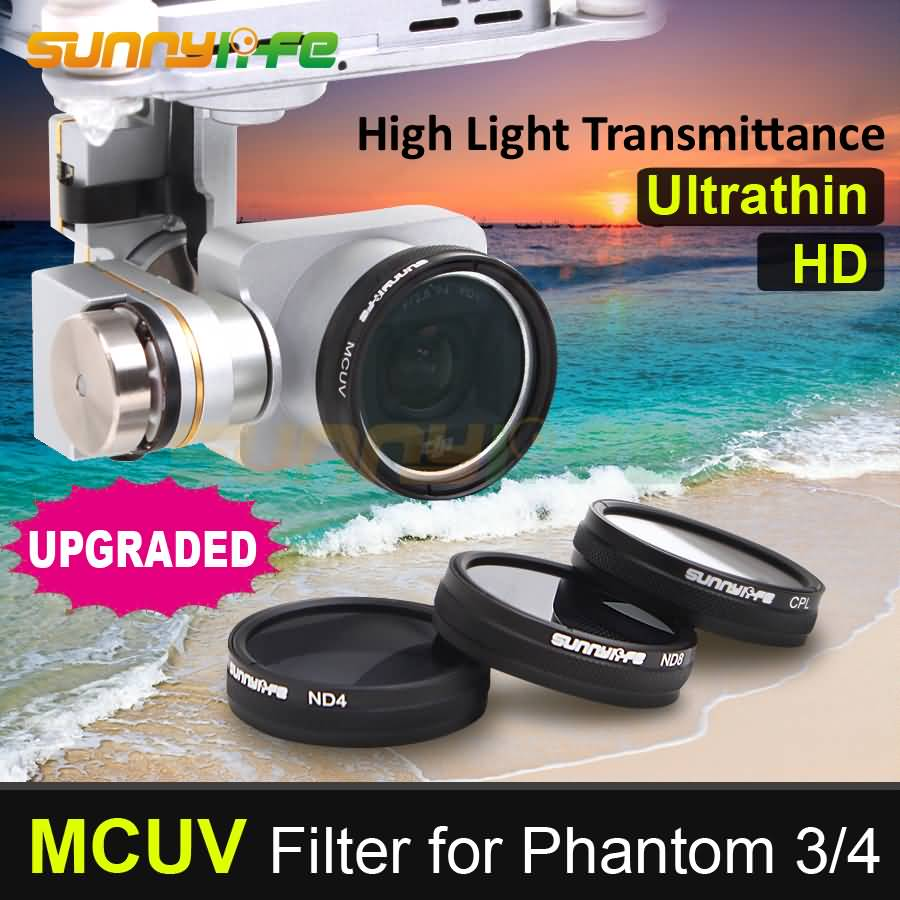 1pc Sunnylife MCUV Glasfilter UV-filter Ultraviolett filter för DJI - Kamera och foto