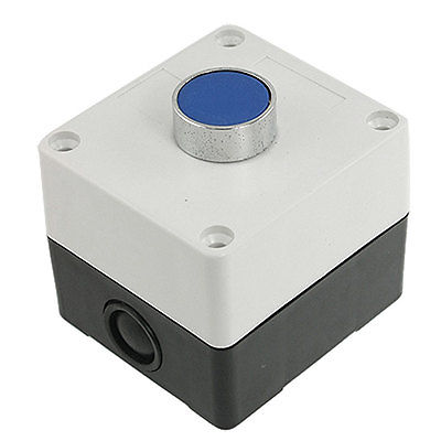 Ui 660V Ith 10A Blue Sign Momentary Push Button Switch Station Non Lock 1 NO N/O