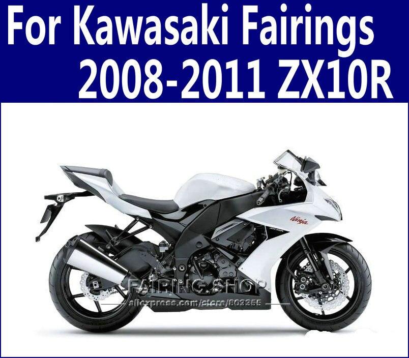 ZX10R 2008 2009 Silber Schwarz Verkleidungen Fur Kawasaki Ninja 2010 2011 08 11 Verkleidung