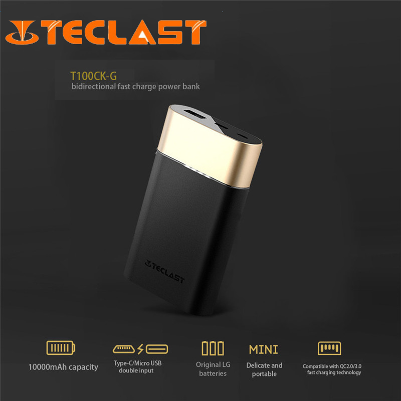 Teclast Power Bank 10000mah Power Bank Quick Charge 3 0 Two way Fast Charge Universal Dual