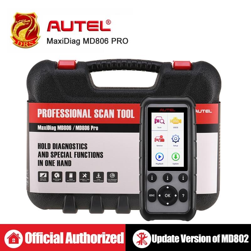 Autel MaxiDiag MD806 & MD806 Pro OBD2 Scanner Car Automotive Diagnostic Tool Auto Code Reader OBDII OBD Scan Tool pk MD802 MD805-in Code Readers & Scan Tools from Automobiles & Motorcycles