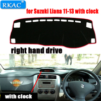 RKAC RIGHT hand drive Car Dashboard cover rug for Suzuki Liana Dust proof car dashboard mat for Suzuki Liana 11 13 with clock