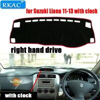 RKAC RIGHT hand drive Car Dashboard cover rug for Suzuki Liana Dust proof car dashboard mat for Suzuki Liana 11 13 with clock