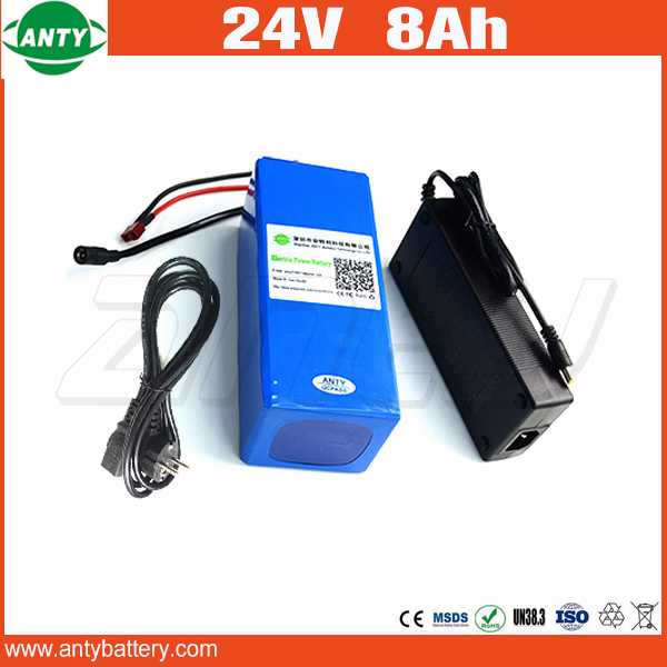 24v E-Bike Battery 8Ah 500w With 29.4v 2A Charger Lithium Battery Built in 30A BMS Electric Bicycle Battery 24v Free Shipping