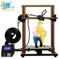 Gran tamaño 300*300*400mm creality CR-10 serie 3D impresora con pantalla LCD de alta precisión 3D impresora con filamento envío libre
