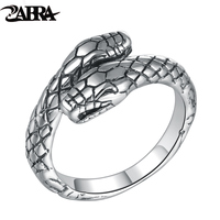 Old Silversmith Opening 100 925 Silver Ring Male Tail Little Finger Ring Female Snake Retro Index