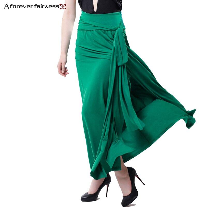 A Forever Summer femmes taille haute jupes mode Long côté fendu jupe crayon Sexy Slim Maxi jupes décontractées longas Saias AFF988