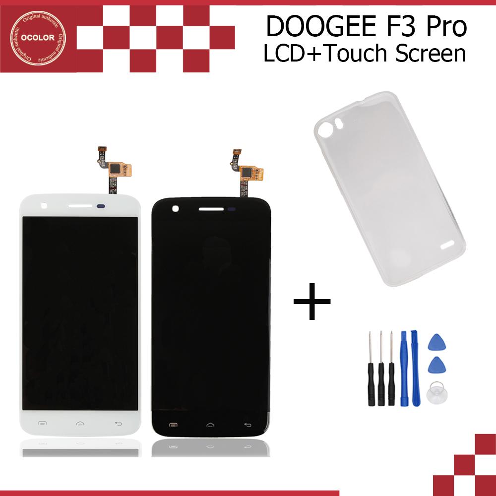 Prix pour Doogee f3 pro d'origine lcd affichage et écran tactile assemblée 5.0 pouce parfait réparation partie pour doogee f3 pro + de silicium cas + Outils