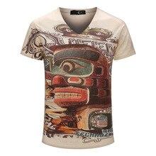Color Graffiti Printed T shirt 2017 Brand Top Tees Boy Retro Mystery Printing Mens Shirt Casual