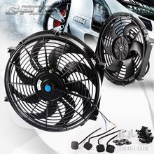 14 Universal Slim Pull Push Racing Electric Radiator Engine Cooling Fan