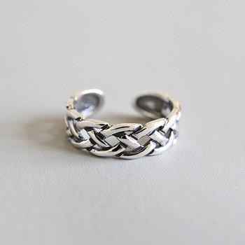 72a737838252 HFYK 2019 Vintage hueco red conjunto anillos para las mujeres pequeño anillo  del dedo del pie anillo de plata de Ley 925 anillos de plata 925 para mujer  ...