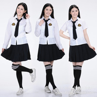 2014 New Arrive Japanese Korean Anime School Uniform Cosplay Top Quality Upscale Elegant Girls Plus Size