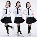 2016 Nuevo llega el Anime cosplay Uniforme Escolar Japonés y Coreano de Calidad Superior Elegante de Las Muchachas Más El tamaño uniformes Escolares set para niñas