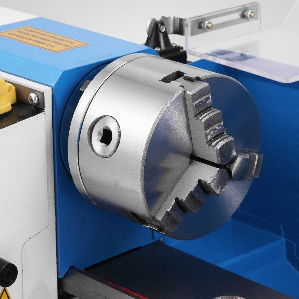 Купить с кэшбэком Home lathe 0618 small lathe Mini high precision DIY workshop bench metal lathe variable speed milling machine