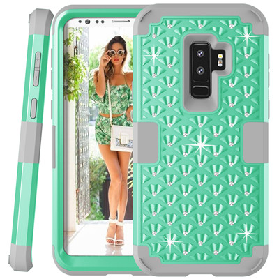 Heavy Duty Hybrid Case For Samsung Galaxy S9 S9Plus Shockproof Armor Rugged Case Cover Hard PC + Soft Rubber Silicone Phone Case (32)