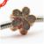 Diy serve para pandora pulseira encantos da margarida deslumbrante 100% 925 grânulos de prata esterlina com rose banhado a ouro e cubic zirconia