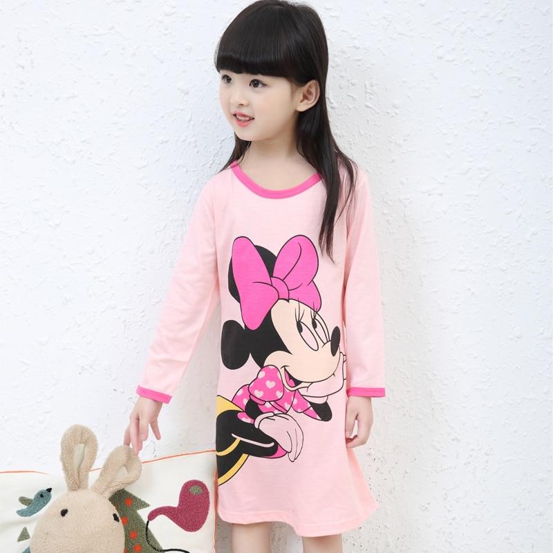 3-12y Neue 2019 Frühling Herbst Stil Mädchen Mode Nachthemd Kinder Tuch Mädchen Nachtwäsche Kinder Mädchen Prinzessin Mädchen Hause Kleidung