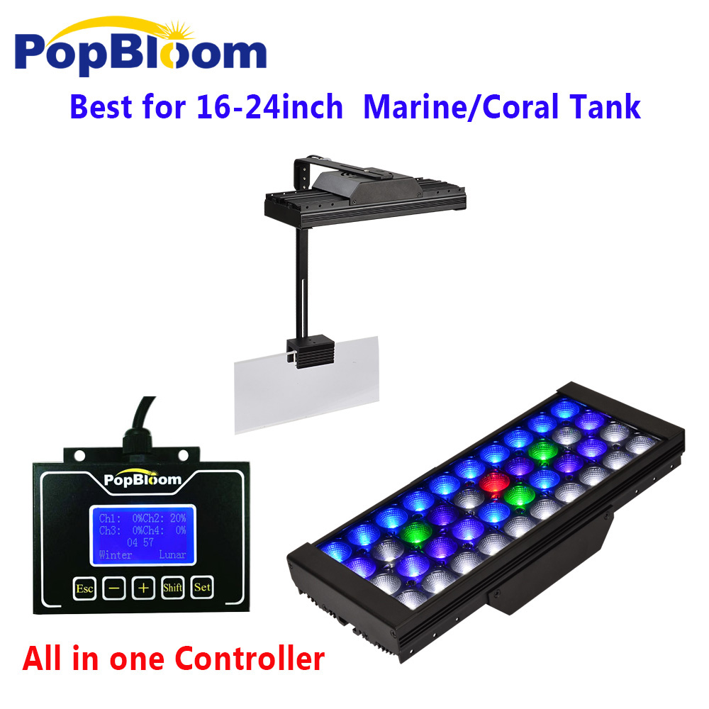 DSunY Aqua Dimmable Led Aquarium Lights for Marine Coral Reef SPS LPS Sunrise Sunset moonlight MJ3BP1