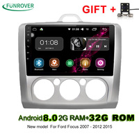 New Funrover 2din 9 Inch Android 8 0 2g 32g Car Dvd Gps For Ford Focus