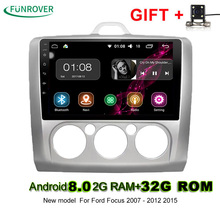 New Funrover 2din 9 Inch Android 8.0 2g+32g Car Dvd Gps For Ford Focus 2 With Wifi/gps Navi/fm/am Radio/bluetooth/multimedia