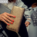 New 2016 Women Luxury Famous Brand Designers PU Leather Long Wallet Hasp Wallets Ladies Clutch Female Coin Purse Men Card Holder