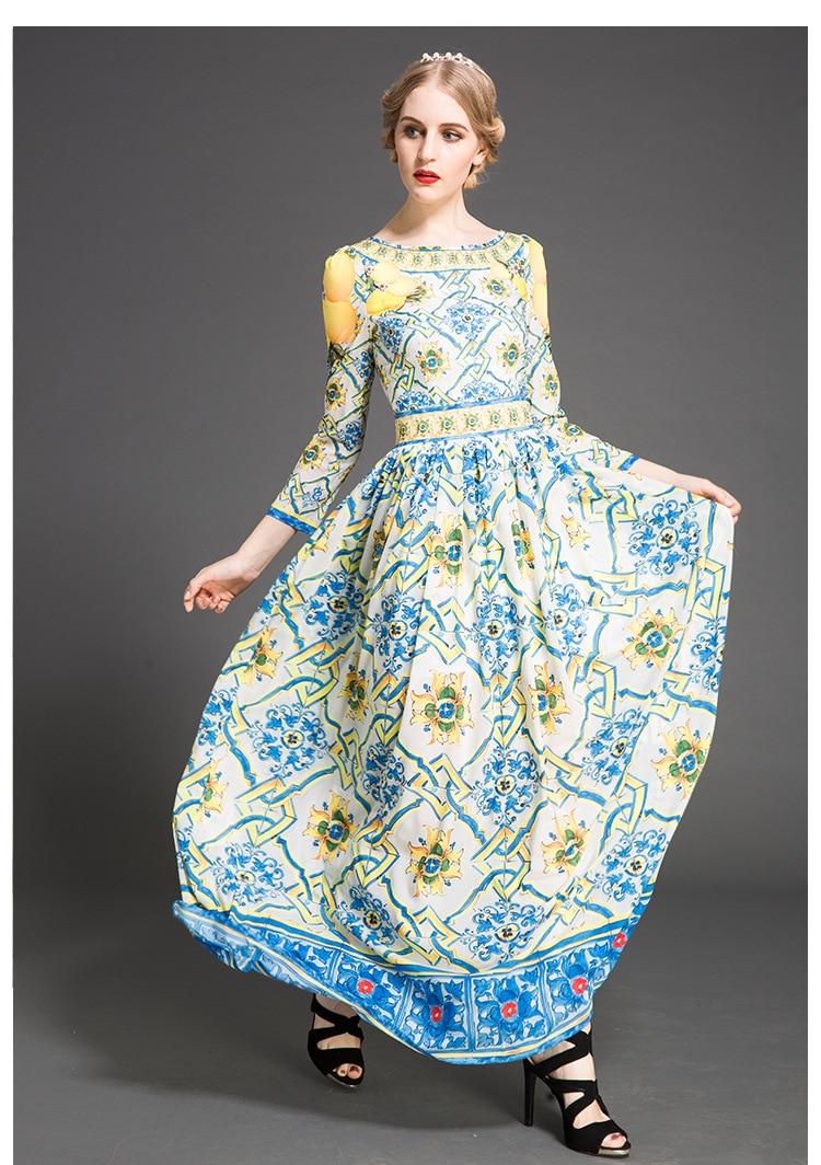 Aliexpress.com : Buy Womens long Dress Elegant Summer Floral Flower ...