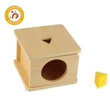 Montessori Kids Toy High-Quality  Triangular Prism Sensory Education Preschool