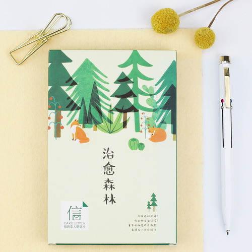 30sheets/LOT Healing forest Postcard /Greeting Card/Wish Card/Christmas and New Year gifts 30sheets lot happy new year fireworks postcard greeting card wish card kids chrismas gift