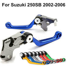 Motorcycle Accessories One Pair Top Quality CNC Pivot Brake Clutch Levers For Suzuki 250SB 2002 2003 2004 2005 2006 Blue D10
