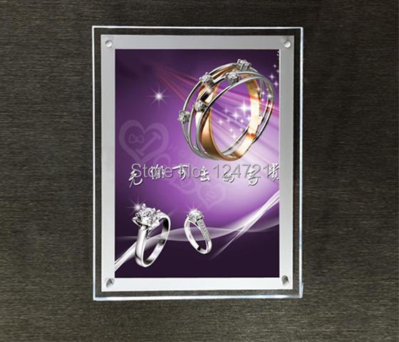 Led Wall Light Acrylic Maggic Mirror Lightbox,Led Crystal Light Box a4 Sign  Advertising Products