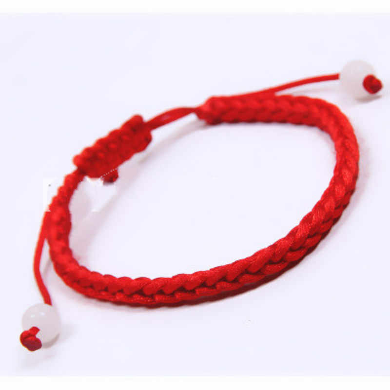 "Polyester Kabbalah Red String Braided Friendship Bracelets 27.5cm(10 7/8"") long, 1 PCs"