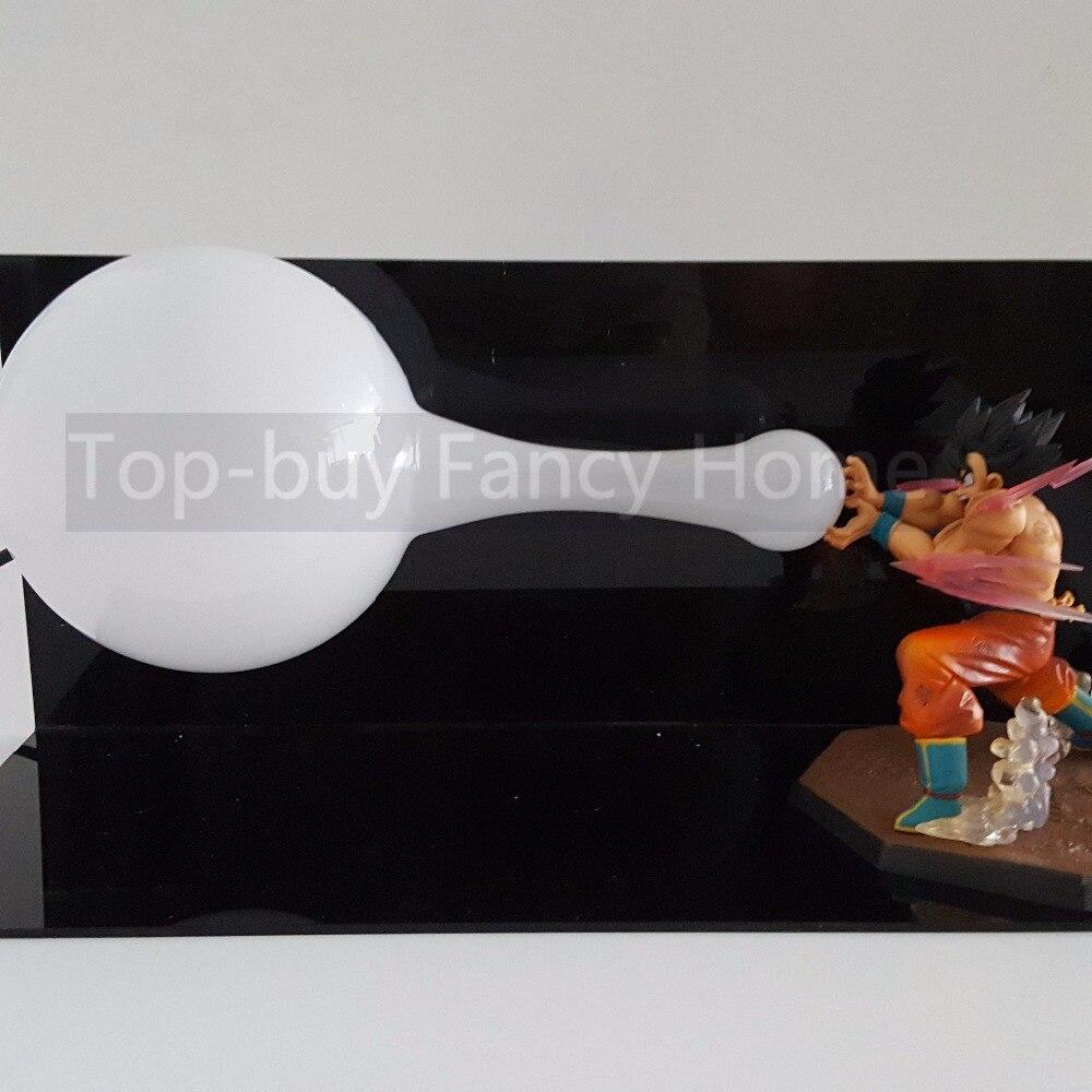Dragon Ball Z Action Figures Son Goku Kaiouken Kamehameha DIY Anime Dragonball Z Figures Collectible Model Toys+Bulb+Base saintgi goku dragon ball z action figures super saiyan son kaiouken pvc 14cm anime juguetes dragonball z esferas del
