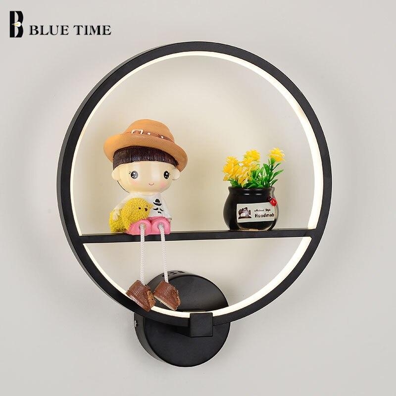 Cartoon Modern Led Wall Light For Living room Bedroom Bedside Wandlamp Lustre Black 12W D30cm Creative Led Wall Lamp AC110V 220V