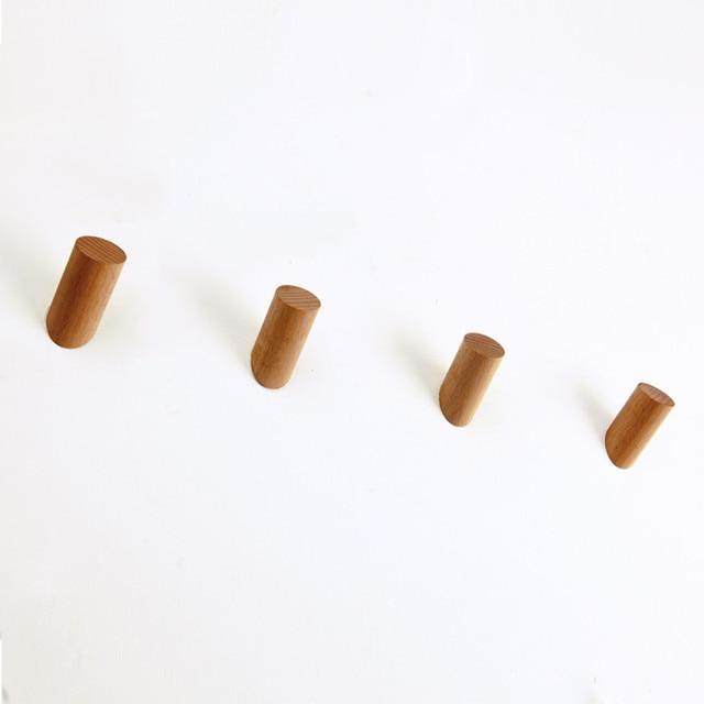 Simple Wooden Hanger 6/8/10cm Length Durable Coat/Hat Holder Hanger Wall
