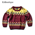 EABoutique 2016 Winter New Fashion christmas Vintage London style totem pattern girls boys sweater for 2-7 years old