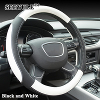 1pc SEEYULE High Quality Micro Fiber Leather Car Steering Wheel Cover Sport Style 38cm Comfortale Hand