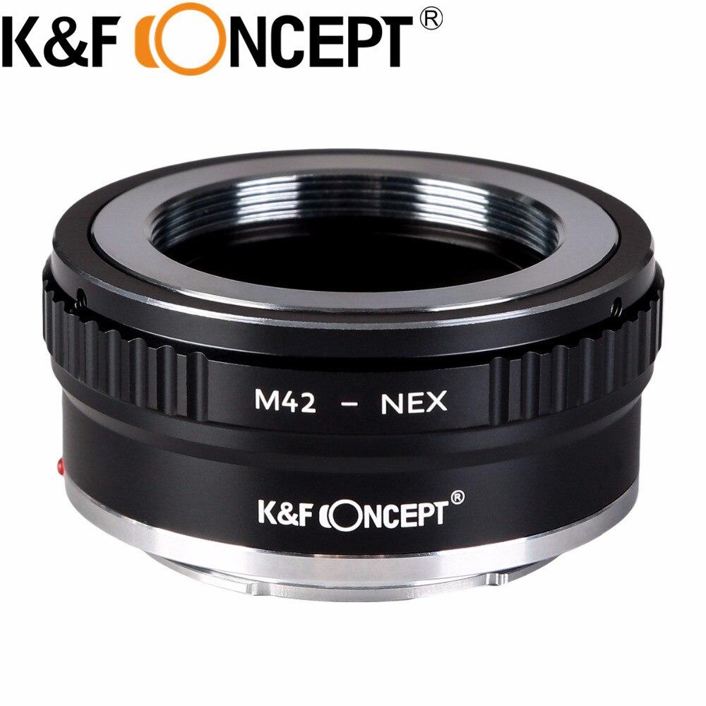 K&F CONCEPT High-precision for M42-NEX Lens Adapter for M42 Mount Lens to Sony E-Mount Camera NEX-5N NEX-5C NEX-C3