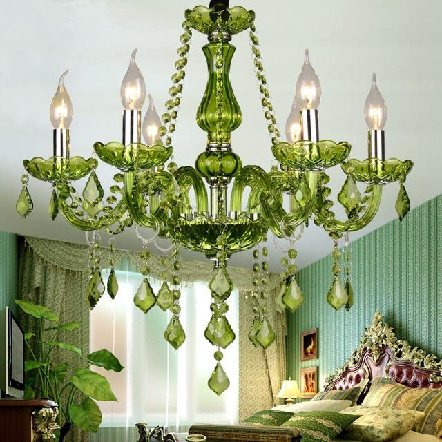 Green crystal chandelier lighting e14 ac 90 260v shadeless lustre green crystal chandelier lighting e14 ac 90 260v shadeless lustre cristal led lamp lampadario luminaria aloadofball Image collections