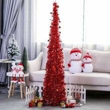 Искусственная мишура Pop up Рождественская елка с подставкой DIY разборная искусственная Рождественская елка для рождественских украшений 1,2 м