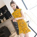 DJGRSTER 2017 New fashion women chinese traditional dress short design party qipao Cheongsam dress sey chinese dress qipao