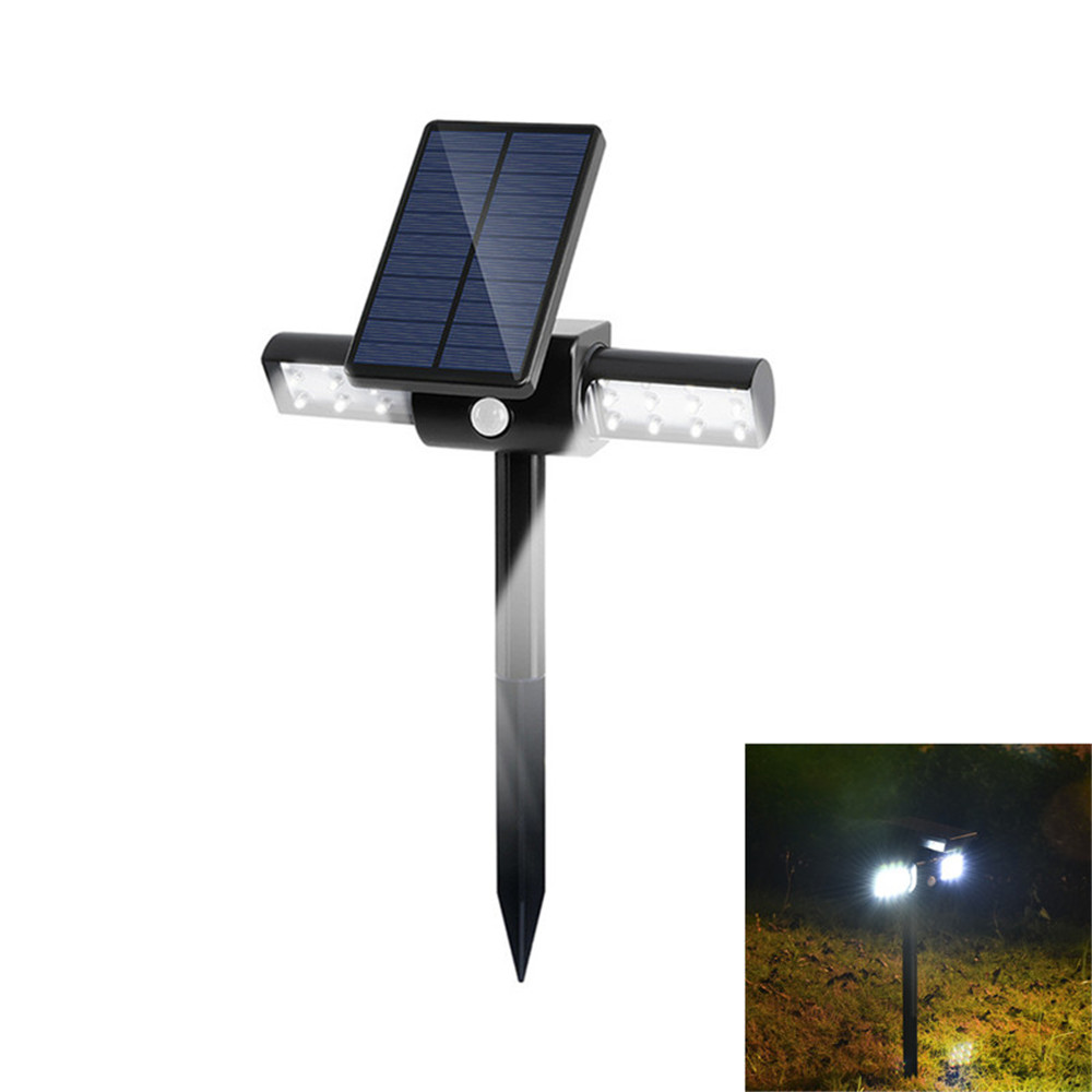 Newest Design Solar Wall Light 24 LED 2000mAh Auto PIR Motion Sensor Garden Wall Solar Lamp For Outdoor Waterproof Lighting