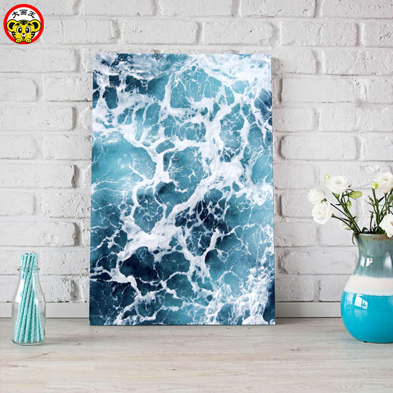 painting by numbers art paint by number Big painting king DIY home decor painting seascape wave decoration painting living room