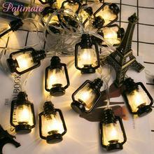 PATIMATE LED Retro Court kerosene Light Party Decoration Led Battery Powered  Rainbow White Warm Lantern String