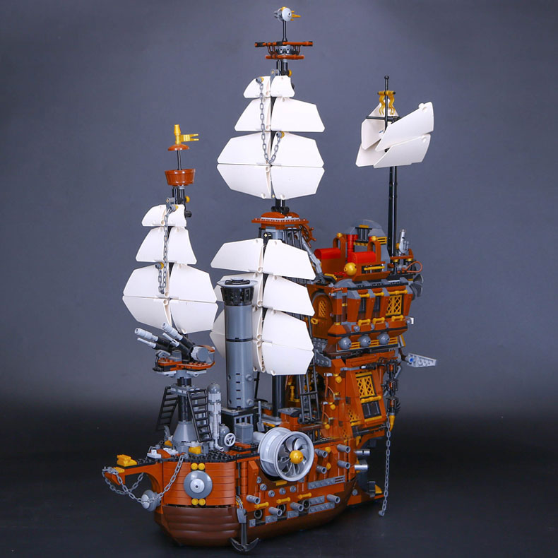 LEPIN 16002 Pirate Ship Metal Beard's Sea Cow Model Building Kits Blocks Bricks Toys Compatible With 70810 new bricks 22001 pirate ship imperial warships model building kits block briks toys gift 1717pcs compatible 10210