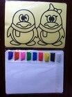 <+>  Детский набор для рисования Color Sand 15x21см желтая наклейка с 9 пакетами цветного песка ①