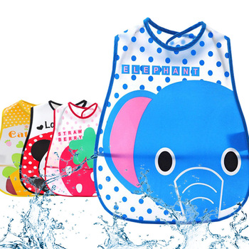 ideacherry Cartoon Baby Bibs Waterproof Newborn Bandanas Feeding Baby Burp Cloths for Girls Boy Saliva Towel Printing Bibs Apron