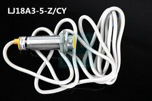 Image 3 - Индуктивный переключатель расстояния M18, 5 шт., 3 провода, постоянный ток, PNP, NO + NC, 5 мм, датчик LJ18A3 5 Z/CY