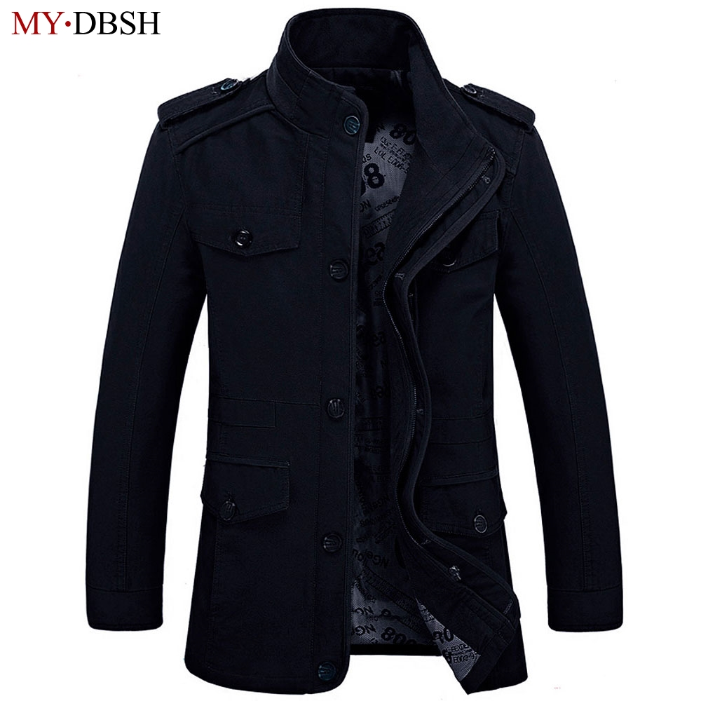 Plus Size 6XL Loose Men Jackets 2018 New Brand MYDBSH Nature Cotton Warm Autumn and Winter Jacket Mens business Casual Coats new 2017 men winter black jacket parka warm coat with hood mens cotton padded jackets coats jaqueta masculina plus size nswt015